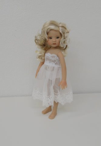 Bea Wig in Bleach Blonde Brown - for Little Darling dolls