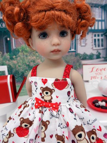 Beary Lovable - dress, socks & shoes for Little Darling Doll or 33cm BJD