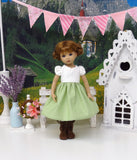 Beauty of Innsbruck - dirndl ensemble with tights & boots for Little Darling Doll or 33cm BJD