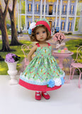 """Bee""lightful - dress, hat, socks & shoes for Little Darling Doll or other 33cm BJD"