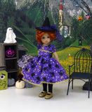 Bewitched - dress, witch hat, tights & shoes for Little Darling Doll or 33cm BJD