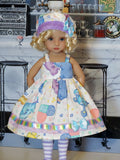 Big Top Circus - dress, hat, tights & shoes for Little Darling Doll