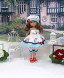 Bike Ride - babydoll top, bloomers, hat & sandals for Little Darling Doll or 33cm BJD