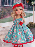 Bird Watching - dress, hat, tights & shoes for Little Darling Doll