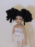 Birdie Wig in Black - for Little Darling dolls