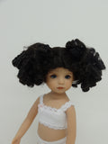 Birdie Wig in Dark Brown - for Little Darling dolls