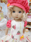 Birthday Party - dress, beret, tights & shoes for Little Darling Doll or other 33cm BJD