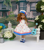 Bitty Ballerina - dress, hat, socks & shoes for Little Darling Doll or 33cm BJD