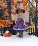 Bitty Bats - dress, tights & shoes for Little Darling Doll or 33cm BJD