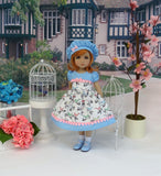 Bitty Bird - dress, hat, socks & shoes for Little Darling Doll or 33cm BJD