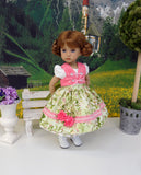 Bitty Fraulein - dirndl ensemble with tights & boots for Little Darling Doll or 33cm BJD