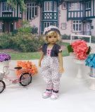 Bitty Posies - romper, jacket, hat, socks & shoes for Little Darling Doll or 33cm BJD