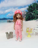 Bitty Seahorse - romper, hat & sandals for Little Darling Doll or 33cm BJD
