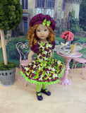 Blackberry Jubilee - dress, beret, tights & shoes for Little Darling Doll or other 33cm BJD