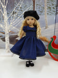 Blue Check - dress, hat, tights & shoes for Little Darling Doll or 33cm BJD