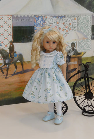 Blue Monday - dress, tights & shoes for Little Darling Doll