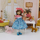 Blushing Blooms - dress, beret, tights & shoes for Little Darling Doll or other 33cm BJD