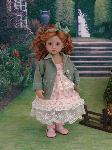 Bohemian Rosebud - dress, blazer, socks & shoes for Little Darling Doll