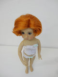 Bonnie Wig in Darkest Carrot Red - for Little Darling dolls