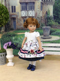 Briar Rose - dirndl ensemble with tights & shoes for Little Darling Doll or 33cm BJD