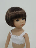 Bubbles Wig in Brown Black - for Little Darling dolls