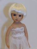 Bubbles Wig in White Blonde - for Little Darling dolls