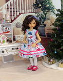 Build A Snowman - dress, tights & shoes for Little Darling Doll or 33cm BJD