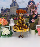 Bumblebee - dress & sandals for Little Darling Doll or 33cm BJD