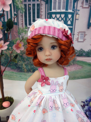 Bunny Besties - dress, hat, socks & shoes for Little Darling Doll or 33cm BJD