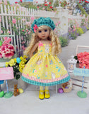 Bunny Crossing - dress, hat, tights & shoes for Little Darling Doll or 33cm BJD