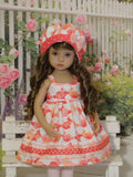 Bunny Hop - dress, hat, tights & shoes for Little Darling Doll