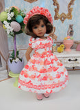 Bunny Kisses - dress, hat, tights & shoes for Little Darling Doll or 33cm BJD