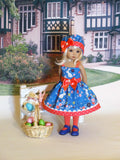 Bunny Meadow - dress, hat, tights & shoes for Little Darling Doll
