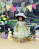 Bunny Peeps - dress, hat, tights & shoes for Little Darling Doll or 33cm BJD