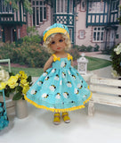 Busy Bee - dress, hat & sandals for Little Darling Doll or other 33cm BJD
