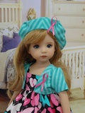 Butterflies for a Cause - dress, jacket, beret & sandals for Little Darling Doll or 33cm BJD