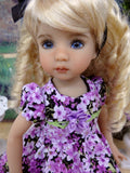 Butterfly Bush - dress, tights & shoes for Little Darling Doll or other 33cm BJD