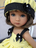 Buzz Buzz - babydoll top, bloomers, hat & sandals for Little Darling Doll