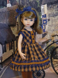 Canterbury Plaid - dress, tights & shoes for Little Darling Doll or 33cm BJD