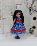 Cardinals in Frost - dress, tights & shoes for Little Darling Doll or 33cm BJD