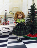 Carol of the Bells - dress, tights & shoes for Little Darling Doll or 33cm BJD
