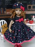 Chalkboard Love - dress, hat, tights & shoes for Little Darling Doll