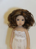 Charlene Wig in Brown Black & Chestnut Brown - for Little Darling dolls