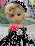 Cherry Cutie - dress, hat, socks & shoes for Little Darling Doll or 33cm BJD