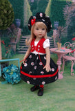Cherry on Top - dress, vest, beret, socks & shoes for Little Darling Doll or 33cm BJD