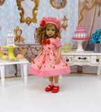 Cherry Sundae - dress, hat, socks & shoes for Little Darling Doll or 33cm BJD