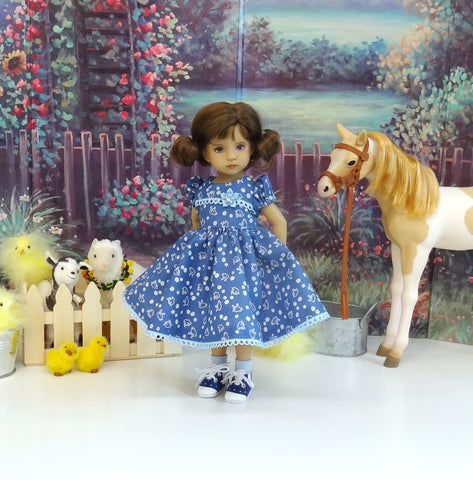 Chicken Scratch - dress, socks & shoes for Little Darling Doll or other 33cm BJD