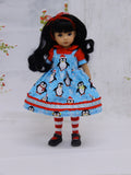 Chilly Willy - dress, blouse, tights & shoes for Little Darling Doll or 33cm BJD