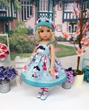 China Doll - dress, hat, tights & shoes for Little Darling Doll or 33cm BJD