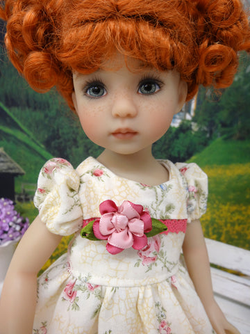 China Rose - dress, socks & shoes for Little Darling Doll or other 33cm BJD